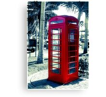 The Red Booth  Canvas Print