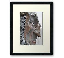 expression evil mask Framed Print