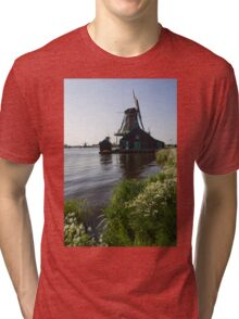 The Iconic Windmills of  Holland  Tri-blend T-Shirt