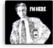 Mulder is Here Canvas Print