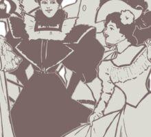 Vintage Ladies APRICOT Sticker