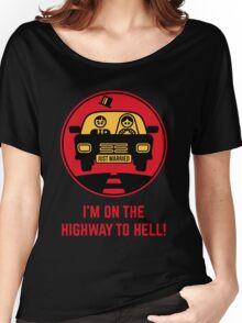 Just Married – I'm On The Highway To Hell (3C) Women's Relaxed Fit T-Shirt