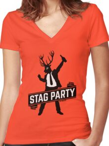 Stag Party / Bachelor Party Women's Fitted V-Neck T-Shirt