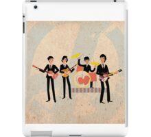 Sixties Style rock band playing music. iPad Case/Skin