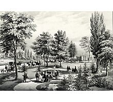 Central Park, the drive - 1862 - Currier & Ives Photographic Print