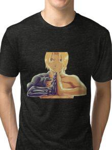 Fullmetal Awesomeness (Digital Painting of Edward Elric from the Manga/Anime Fullmetal Alchemist)  Tri-blend T-Shirt