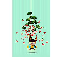 Busting Watermelons Photographic Print