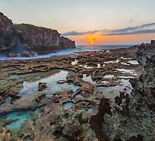 Sunrise over the Rockpools by Yvonne McKenzie
