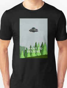Rick and Morty - I Want To Believe T-Shirt