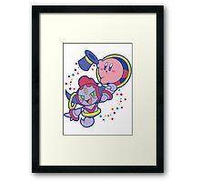 Hoopa and Kirby Framed Print