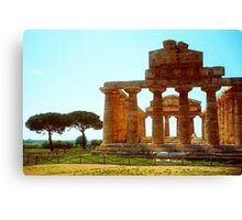 Italy - Greek temple at Paestum Canvas Print