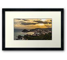 Costa Brava Sunset Framed Print