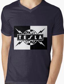tesla band tour dates logo  Mens V-Neck T-Shirt