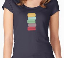 colourful macarons Women's Fitted Scoop T-Shirt