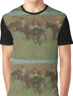 Edgar Degas - At the Races Before the Start (1875 - 1885)  Impressionism Graphic T-Shirt