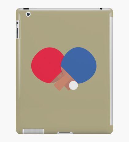 table tennis bat and ball  iPad Case/Skin