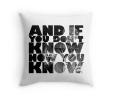 And if you don't know now you know Throw Pillow