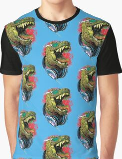 Tyrannosaurus Rex Chillin' With Headphones Graphic T-Shirt