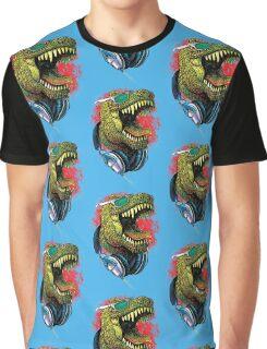 Tyrannosaurus Rex Chillin' With Headphones Graphic T-Shirt