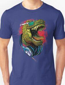 Tyrannosaurus Rex Chillin' With Headphones T-Shirt