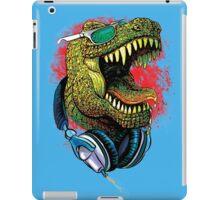 Tyrannosaurus Rex Chillin' With Headphones iPad Case/Skin