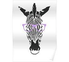 Geeky Zebra Poster