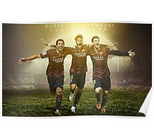 Messi, Suárez and Neymar Poster