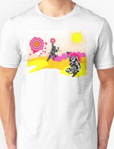 Grunge paintball background T-Shirt