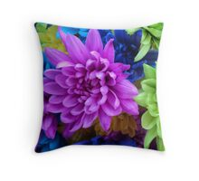 Beautiful Colored Flowers Throw Pillow