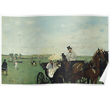 Edgar Degas - At the Races in the Countryside (1869)  Impressionism Poster