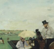 Edgar Degas - At the Races in the Countryside (1869)  Impressionism Sticker