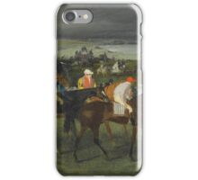 Edgar Degas - At the Races The Start (c. 1860 - c. 1862) iPhone Case/Skin
