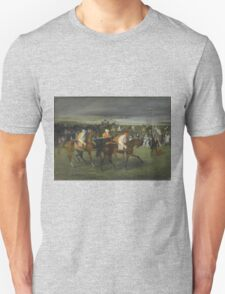 Edgar Degas - At the Races The Start (c. 1860 - c. 1862) T-Shirt