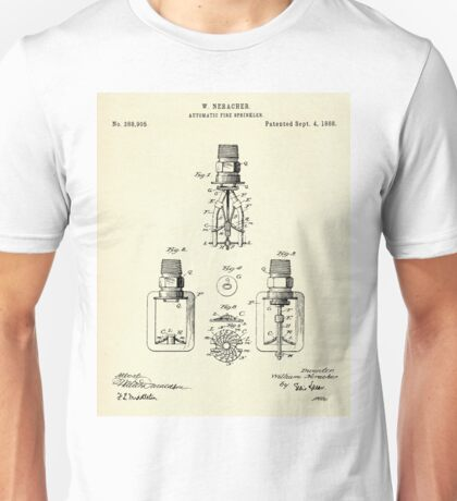 Automatic Fire sprinkler-1888 Unisex T-Shirt