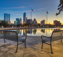 View of the Austin Skyline at Sunrise 1 by RobGreebonPhoto