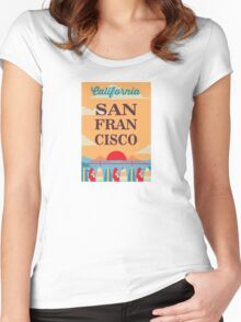 San Francisco. Women's Fitted Scoop T-Shirt