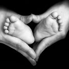 Baby feet in the mother hands by gianliguori