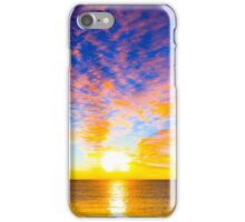 Beautiful sunset over the ocean iPhone Case/Skin