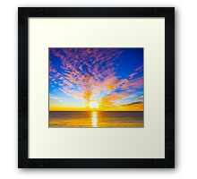 Beautiful sunset over the ocean Framed Print