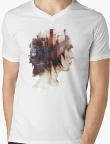 Surrealism in the City Mens V-Neck T-Shirt