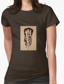 chocolate overflow Womens Fitted T-Shirt
