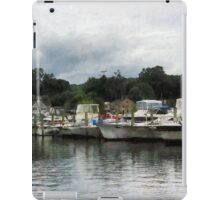 Boats On A Cloudy Day Essex CT iPad Case/Skin