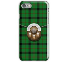 Clan Kincaid Tartan And Sporran iPhone Case/Skin