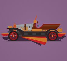 Chitty Chitty Bang Bang - Purple by David Wildish