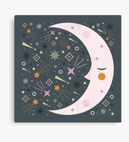 Mr Moon Canvas Print