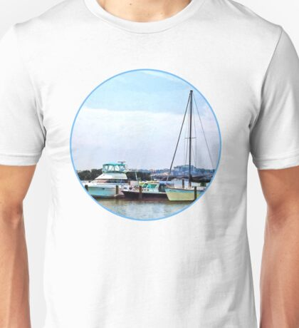 Boats on the Potomac Near Founders Park Unisex T-Shirt
