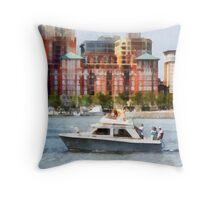 Maryland - Cabin Cruiser by Baltimore Skyline Throw Pillow
