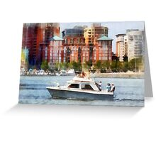 Maryland - Cabin Cruiser by Baltimore Skyline Greeting Card