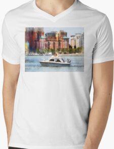 Maryland - Cabin Cruiser by Baltimore Skyline Mens V-Neck T-Shirt