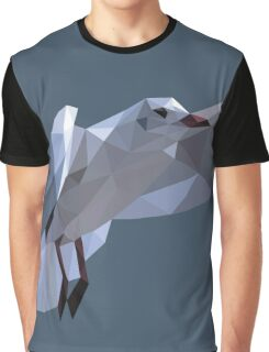 Low Poly Flying Seagull Graphic T-Shirt